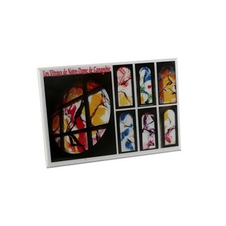"""Magnet """"Les Vitraux de l'Abbaye de Ganagobie"""""""